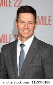 """LOS ANGELES - AUG 9:  Mark Wahlberg at the """"Mile 22"""" Premiere at the Village Theater on August 9, 2018 in Westwood, CA"""