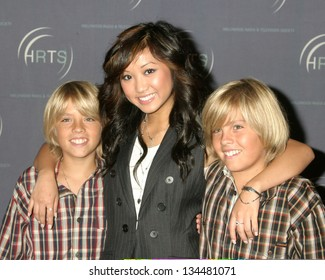 LOS ANGELES - AUGUST 10: Cole and Dylan Sprouse with Brenda Song at Hollywood Radio and TV Society Presents Kids Day 2005 at Hollywood Palladium on August 10, 2005 in Los Angeles, CA