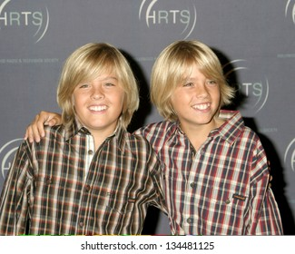 LOS ANGELES - AUGUST 10: Dylan and Cole Sprouse at Hollywood Radio and TV Society Presents Kids Day 2005 at Hollywood Palladium on August 10, 2005 in Los Angeles, CA