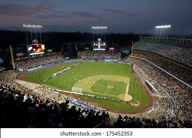 LOS ANGELES - AUGUST 3: A general view of Dodger Stadium during the 2013 Guinness International Champions Cup on Aug 3, 2013 at Dodger Stadium.