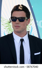 LOS ANGELES - AUGUST 8:  Cory Monteith arrives at the 2010 Teen Choice Awards at Gibson Ampitheater at Universal  on August 8, 2010 in Los Angeles, CA