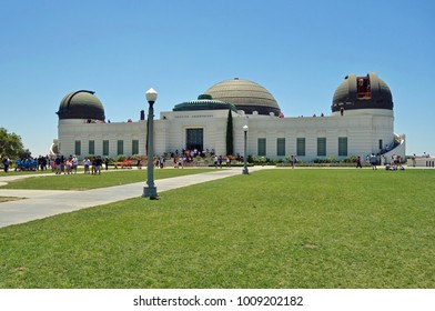 LOS ANGELES, CA -17 JUN 2017- View of the Griffith Observatory, an astronomical facility on the south-facing slope of Mount Hollywood in LA. It was the location for a scene in the movie La La Land.