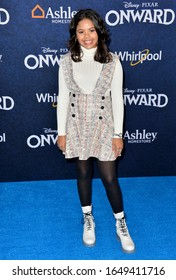 """LOS ANGELES, CA: 18, 2020: Alison Fernandez at the world premiere of """"Onward"""" at the El Capitan Theatre.Picture: Paul Smith/Featureflash"""