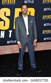 """LOS ANGELES, CA: 27, 2020: Brandon Scales at the world premiere of """"Spenser Confidential"""" at the Regency Village Theatre.Picture: Paul Smith/Featureflash"""