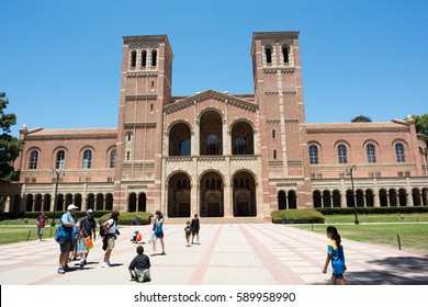 Los Angeles, CA: 7/16/2016: A view of Royce Hall on the University of California, Los Angeles (UCLA) campus. Royce Hall was completed in 1929.