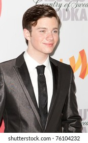 LOS ANGELES, CA. - APR 17: Chris Colfer arrives at the 21st Annual GLAAD Media Awards at Hyatt Regency Century Plaza Hotel on April 17, 2010 in Los Angeles, CA.
