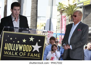 LOS ANGELES, CA - APR 5: Adam West, Ralph Garman at a ceremony where Adam West is honored with a star on the Hollywood Walk of Fame on April 5, 2012 in Los Angeles, California