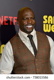 "LOS ANGELES, CA. April 06, 2017: Actor Terry Crews at the premiere for ""Sandy Wexler"" at The Cinerama Dome, Hollywood."