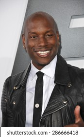 """LOS ANGELES, CA - APRIL 1, 2015: Tyrese Gibson at the world premiere of his movie """"Furious 7"""" at the TCL Chinese Theatre, Hollywood. April 1, 2015  Los Angeles, CA"""