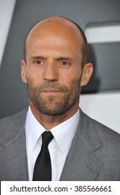 """LOS ANGELES, CA - APRIL 1, 2015: Jason Statham at the world premiere of his movie """"Furious 7"""" at the TCL Chinese Theatre, Hollywood."""