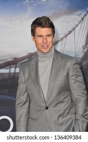 """LOS ANGELES, CA - APRIL 10, 2013: Tom Cruise at the American premiere of his new movie """"Oblivion"""" at the Dolby Theatre, Hollywood."""
