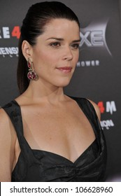 "LOS ANGELES, CA - APRIL 11, 2011: Neve Campbell at the world premiere of her new movie ""Scream 4"" at Grauman's Chinese Theatre, Hollywood, April 11, 2011  Los Angeles, CA"