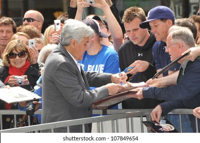 LOS ANGELES, CA - APRIL 12, 2010: Jay Leno on Hollywood Boulevard where actor Russell Crowe was honored with the 2,404th star on the Hollywood Walk of Fame.