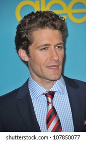 """LOS ANGELES, CA - APRIL 12, 2010: Matthew Morrison at the """"Glee"""" spring series premiere party at Chateau Marmont, West Hollywood."""