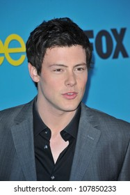 """LOS ANGELES, CA - APRIL 12, 2010: Cory Monteith at the """"Glee"""" spring series premiere party at Chateau Marmont, West Hollywood."""