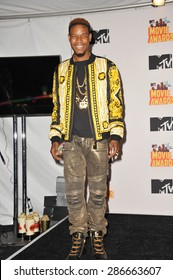 LOS ANGELES, CA - APRIL 12, 2015: Fetty Wap at the 2015 MTV Movie Awards at the Nokia Theatre LA Live.