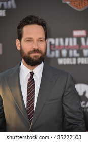 """LOS ANGELES, CA. April 12, 2016: Actor Paul Rudd at the world premiere of """"Captain America: Civil War"""" at the Dolby Theatre, Hollywood."""
