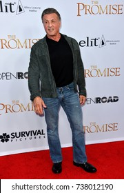 "LOS ANGELES, CA. April 12, 2017: Actor Sylvester Stallone at the premiere for ""The Promise"" at the TCL Chinese Theatre, Hollywood."
