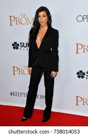"""LOS ANGELES, CA. April 12, 2017: Reality star Kourtney Kardashian at the premiere for """"The Promise"""" at the TCL Chinese Theatre, Hollywood."""