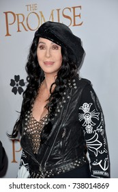 "LOS ANGELES, CA. April 12, 2017: Singer/actress Cher at the premiere for ""The Promise"" at the TCL Chinese Theatre, Hollywood."