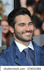 LOS ANGELES, CA - APRIL 13, 2014: Tyler Hoechlin at the 2014 MTV Movie Awards at the Nokia Theatre LA Live.