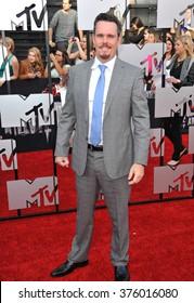 LOS ANGELES, CA - APRIL 13, 2014: Kevin Dillon at the 2014 MTV Movie Awards at the Nokia Theatre LA Live.