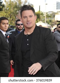 LOS ANGELES, CA - APRIL 13, 2014: Channing Tatum at the 2014 MTV Movie Awards at the Nokia Theatre LA Live.