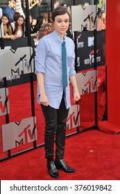 LOS ANGELES, CA - APRIL 13, 2014: Ellen Page at the 2014 MTV Movie Awards at the Nokia Theatre LA Live.