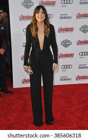 "LOS ANGELES, CA - APRIL 13, 2015: Chloe Bennet at the world premiere of ""Avengers: Age of Ultron"" at the Dolby Theatre, Hollywood."