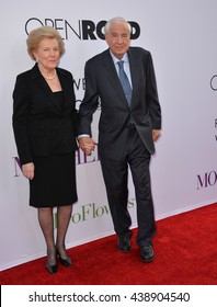 """LOS ANGELES, CA. April 13, 2016: Director Garry Marshall & wife at the world premiere of """"Mother's Day"""" at the TCL Chinese Theatre, Hollywood."""