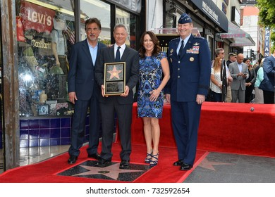 LOS ANGELES, CA - April 17, 2017: Joe Mantegna, Gary Sinise, Patricia Heaton & U.S. Air Force General Robin Rand at the Hollywood Walk of Fame star ceremony honoring actor Gary Sinise.