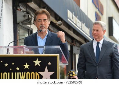 LOS ANGELES, CA - April 17, 2017: Joe Mantegna & Gary Sinise at the Hollywood Walk of Fame star ceremony honoring actor Gary Sinise.
