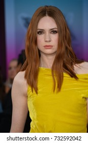 """LOS ANGELES, CA - April 19, 2017: Karen Gillan at the world premiere for """"Guardians of the Galaxy Vol. 2"""" at the Dolby Theatre, Hollywood."""