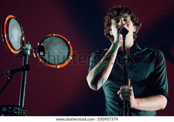 LOS ANGELES, CA - APRIL 19: Gotye performs at the Nokia Theatre on April 19, 2012 in Los Angeles, California.