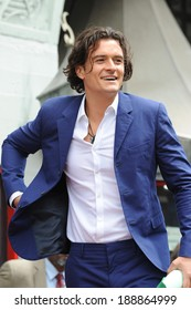 LOS ANGELES, CA - APRIL 2, 2014: Orlando Bloom on Hollywood Blvd where he was honored with the 2,521st star on the Hollywood Walk of Fame.