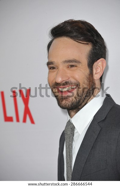 "LOS ANGELES, CA - APRIL 2, 2015: Charlie Cox at the premiere of his Netflix series ""Marvel's Daredevil"" at the Regal Cinemas LA Live. April 2, 2015  Los Angeles, CA"