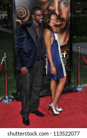 LOS ANGELES, CA - APRIL 20, 2009: Eva Pigford & fianc���½ Lance Gross at the Los Angeles premiere of The Soloist at Paramount Theatre, Hollywood.