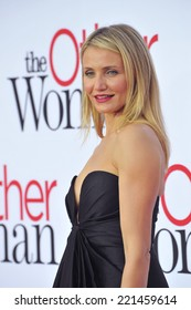 "LOS ANGELES, CA - APRIL 21, 2014: Cameron Diaz at the Los Angeles premiere of her movie ""The Other Woman"" at the Regency Village Theatre, Westwood."