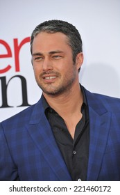 "LOS ANGELES, CA - APRIL 21, 2014: Taylor Kinney at the Los Angeles premiere of his movie ""The Other Woman"" at the Regency Village Theatre, Westwood."