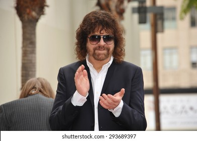 LOS ANGELES, CA - APRIL 23, 2015: Rock artist Jeff Lynne is honored with the 2,548th star on the Hollywood Walk of Fame.