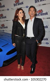 LOS ANGELES, CA - APRIL 24, 2012: Anna Trebunskaya & Bruno Tonioli at the official launch of BritWeek 2012 in Hancock Park, Los Angeles. April 24, 2012  Los Angeles, CA