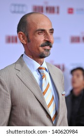 """LOS ANGELES, CA - APRIL 24, 2013: Shaun Toub at the Los Angeles premiere of his movie """"Iron Man 3"""" at the El Capitan Theatre, Hollywood."""