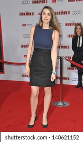 "LOS ANGELES, CA - APRIL 24, 2013: Madeline Zima at the Los Angeles premiere of ""Iron Man 3"" at the El Capitan Theatre, Hollywood."