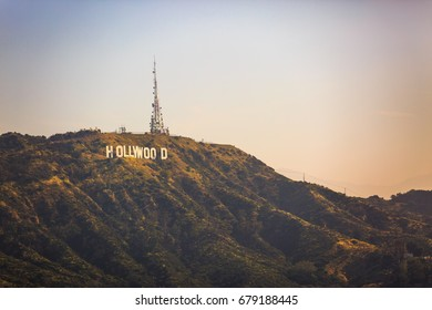 Los Angeles, CA - APRIL 4: Famous Hollywood sign on April 4, 2017 in Los Angeles