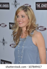 "LOS ANGELES, CA - APRIL 8, 2010: Christina Moore at the Los Angeles premiere of ""The Joneses"" at the Arclight Theatre, Hollywood."