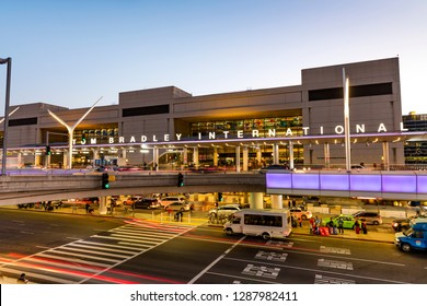 LOS ANGELES, CA- April 8, 2018: Los Angeles International Airport, locally referred to as LAX, is the third-busiest airport in North America by passengers.