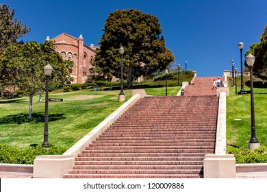 LOS ANGELES, CA - AUG 21:   The 87-steps of Janss Steps are on the campus of UCLA and  were named after the Janss brothers, who sold the land to UCLA. LOS ANGELES, CA, AUG 21,2010.