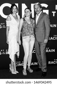 "Los Angeles, CA - August 01, 2019: Gary Cole (R) and daughter Mary Cole (C)  attend the premiere Of  ""The Art of Racing in the Rain"" held at El Capitan Theatre"