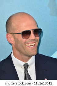 "LOS ANGELES, CA - August 06, 2018: Jason Statham at the US premiere of ""The Meg"" at the TCL Chinese Theatre"