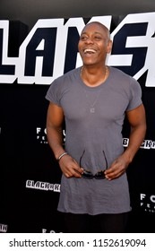 "LOS ANGELES, CA - August 08, 2018: Dave Chappelle at the Los Angeles premiere of ""BlacKkKlansman"" at the Academy's Samuel Goldwyn Theatre, Beverly Hills"